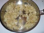 onions & garlic sauteed.