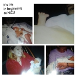 "Photo Collage with Grandma Day holding her ""Kensie Girl"""