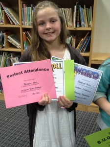 K and all of her awards!!!
