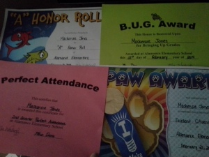 K's 2nd quarter 4th grade awards!